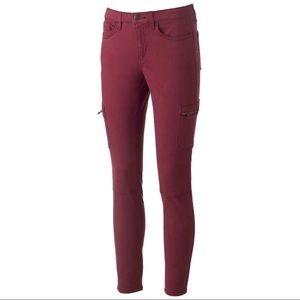 Mudd Utility Skinny Stretch Cargo Pants Size 7